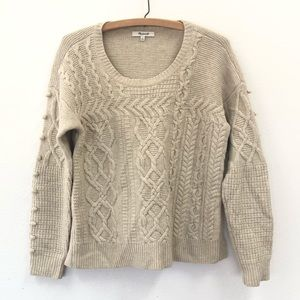 Madewell beige wool sweater size Small